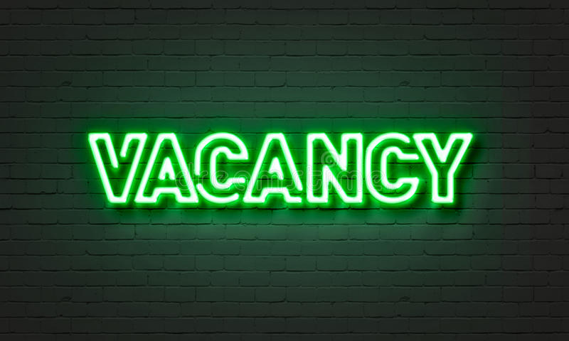 Vacancy neon sign royalty free illustration