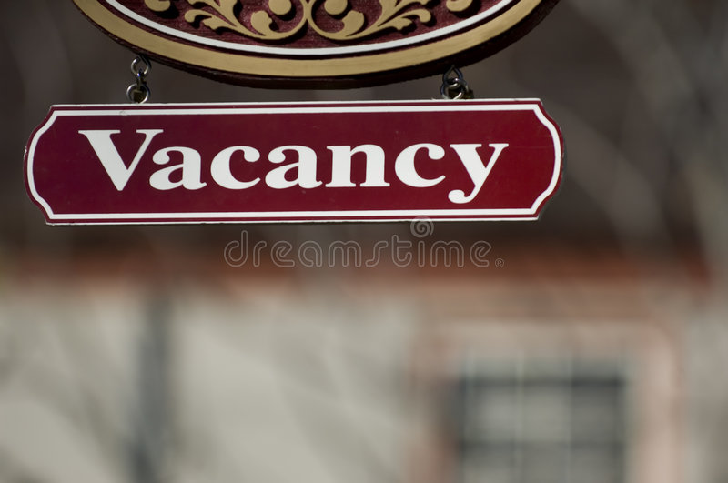 Vacancy sign royalty free stock image