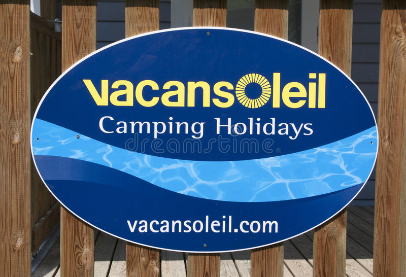 Vacansoleil sign stock image
