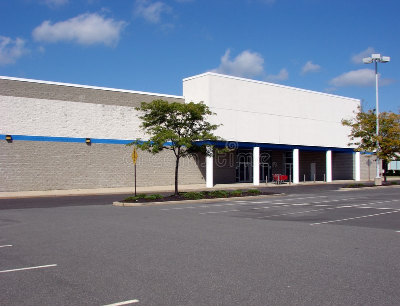 Download Vacant Abandoned Big Box Store Empty Parking Lot Royalty Free Stock Photos - Image: 1416698