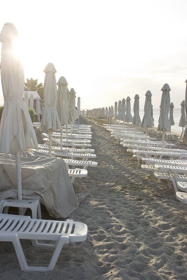 Vacant beach royalty free stock photos