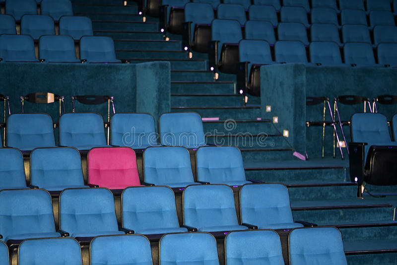 Vacant seats of a theater. Waiting for spectators stock photography