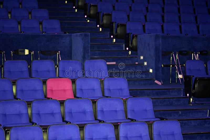 Vacant seats of a theater. Waiting for spectators stock photo