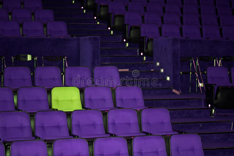 Vacant seats of a theater. Waiting for spectators royalty free stock photo