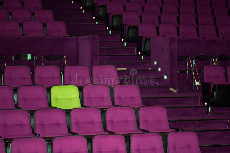 Vacant seats of a theater. Waiting for spectators royalty free stock images