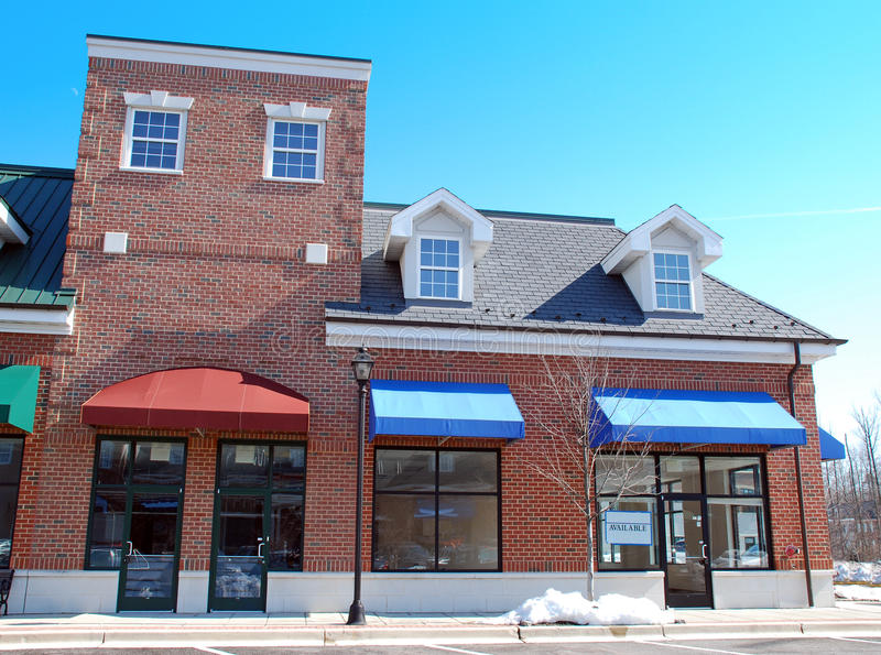 Download Vacant Storefront Main Street 2 Stock Image - Image: 13640907