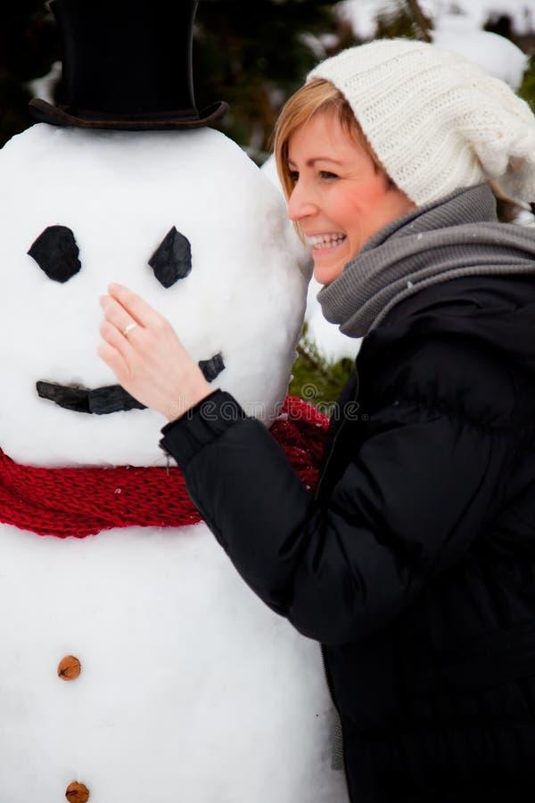 Vacanza del pupazzo di neve fotografie stock