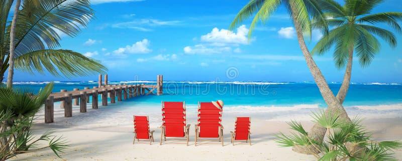 Vacanza della spiaggia della famiglia royalty illustrazione gratis