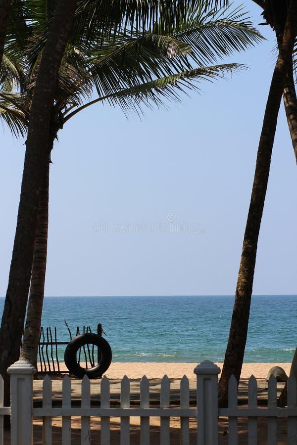 Vacanza della spiaggia sull'Oceano Indiano immagine stock libera da diritti