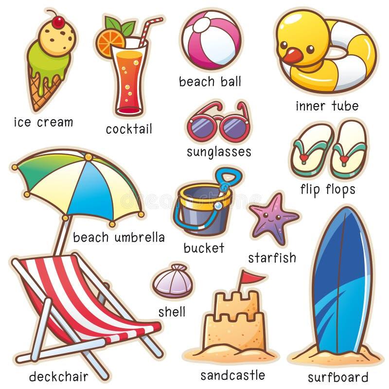 Vacanza di estate illustrazione vettoriale