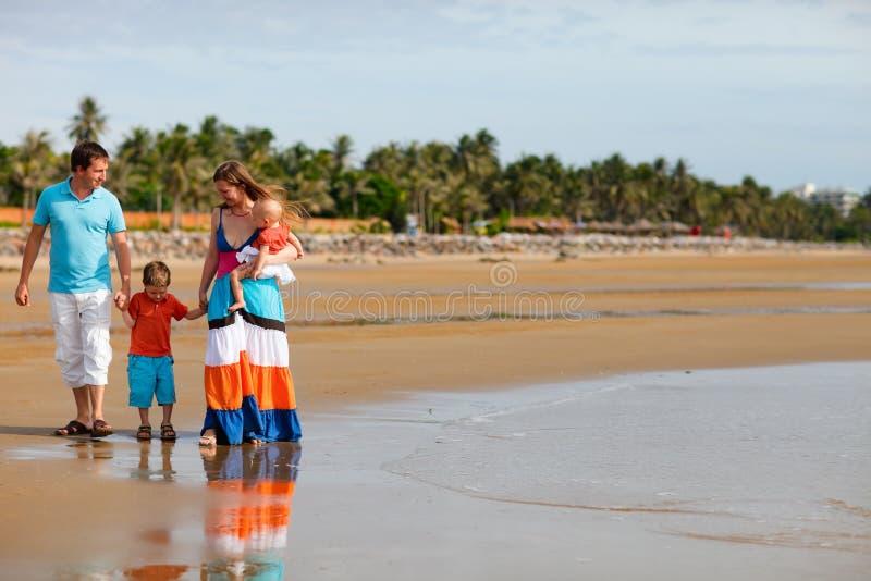 Vacanza di famiglia fotografia stock