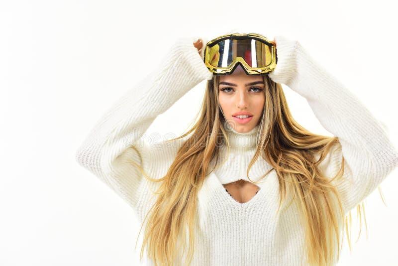 Vacanza di natale Sensibilità riposata Stazione sciistica e snowboard Sport invernali ed attività Vacanze invernali felici Ragazz immagini stock