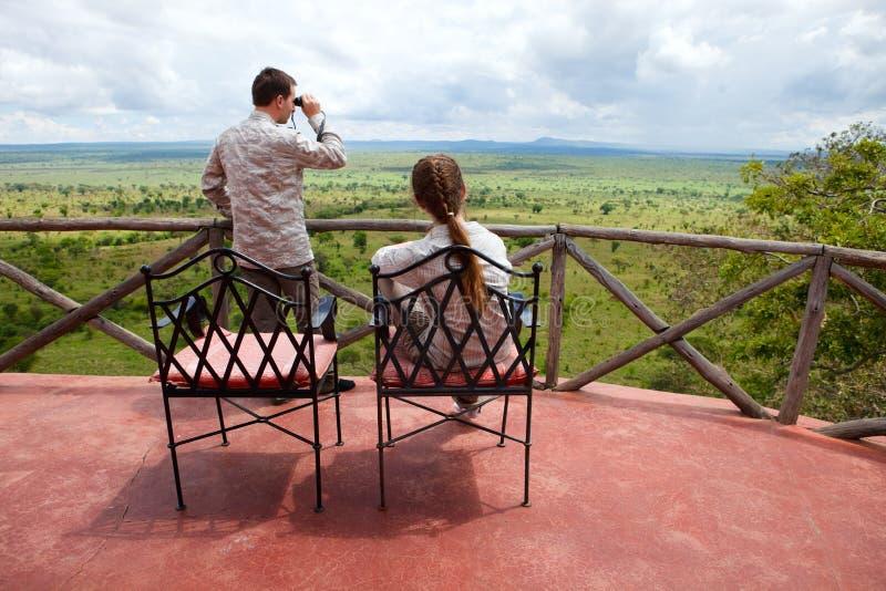 Vacanza di safari fotografie stock libere da diritti