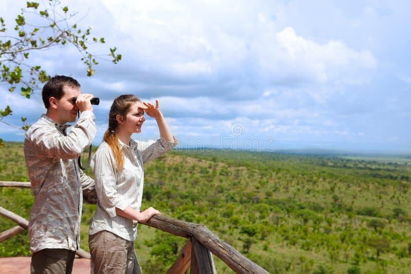 Vacanza di safari fotografie stock