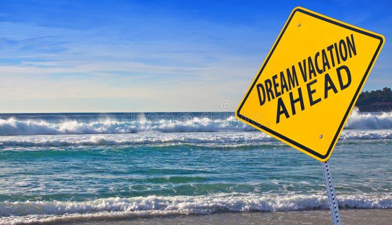 Vacanza di sogno avanti immagine stock