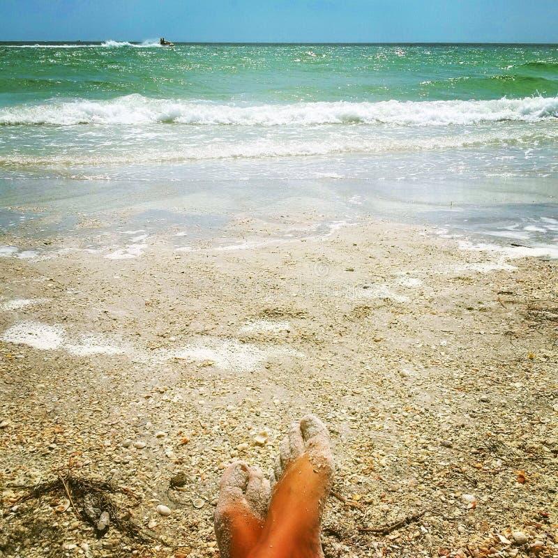 Vacanza di sogno sulla riva dell'oceano immagini stock