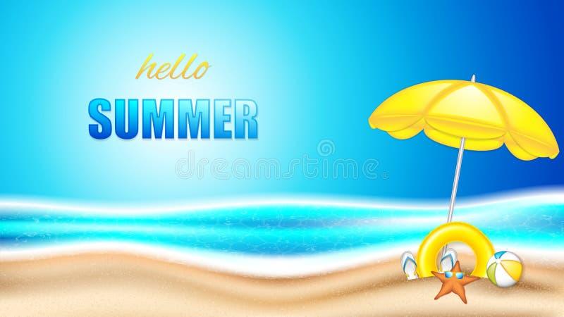 Vacanza estiva in spiaggia royalty illustrazione gratis