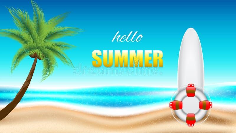 Vacanza estiva in spiaggia illustrazione vettoriale