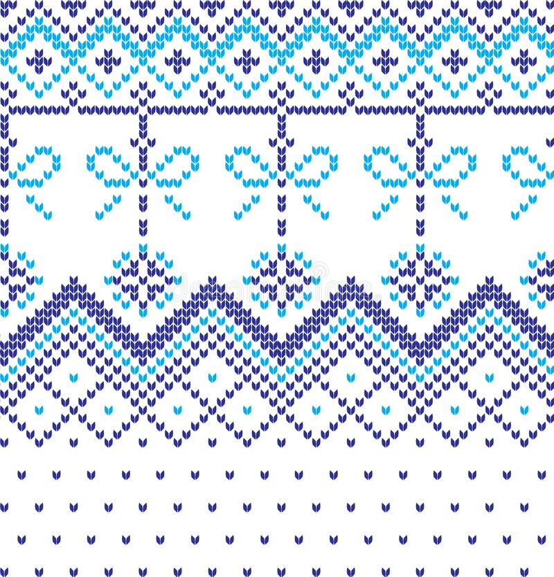 Vacanza invernale che tricotta modello con alberi di Natale Natale che tricotta progettazione del maglione Struttura tricottata l fotografie stock