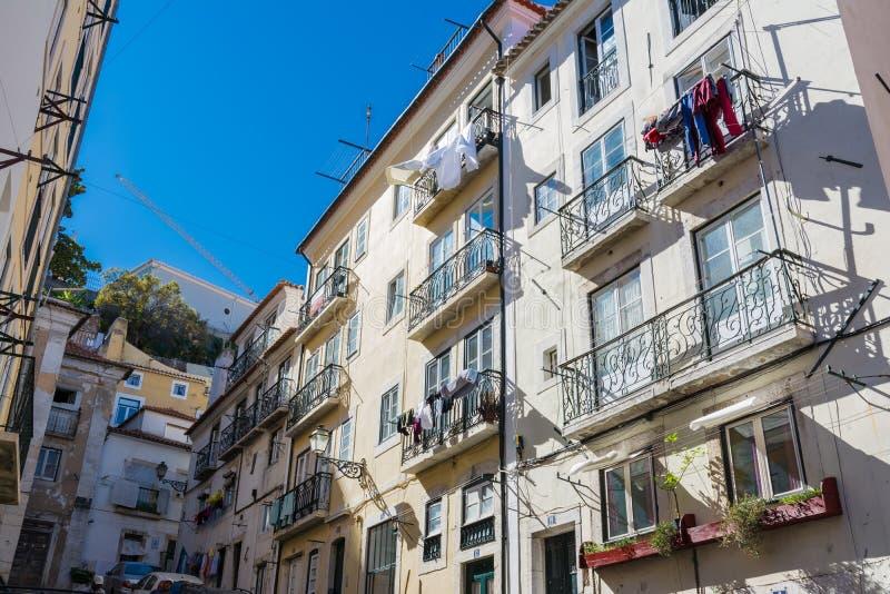 Vacanza storica europea Desti di posizione di Lisbona Portogallo Alfama immagine stock libera da diritti
