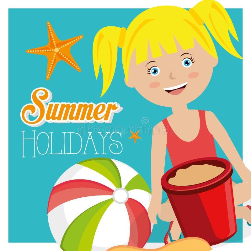 Vacanze di estate royalty illustrazione gratis