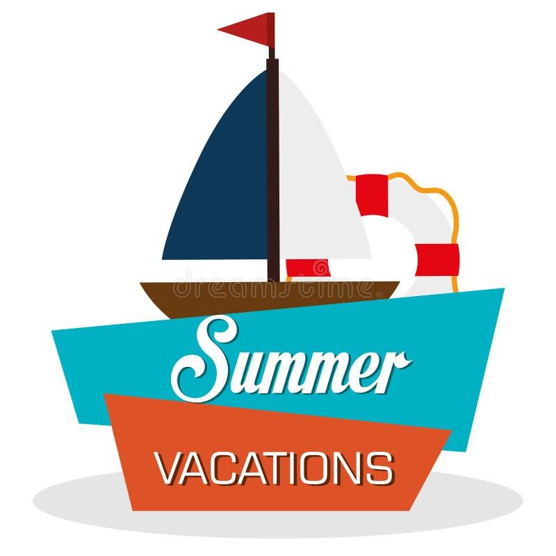 Vacanze di estate illustrazione vettoriale