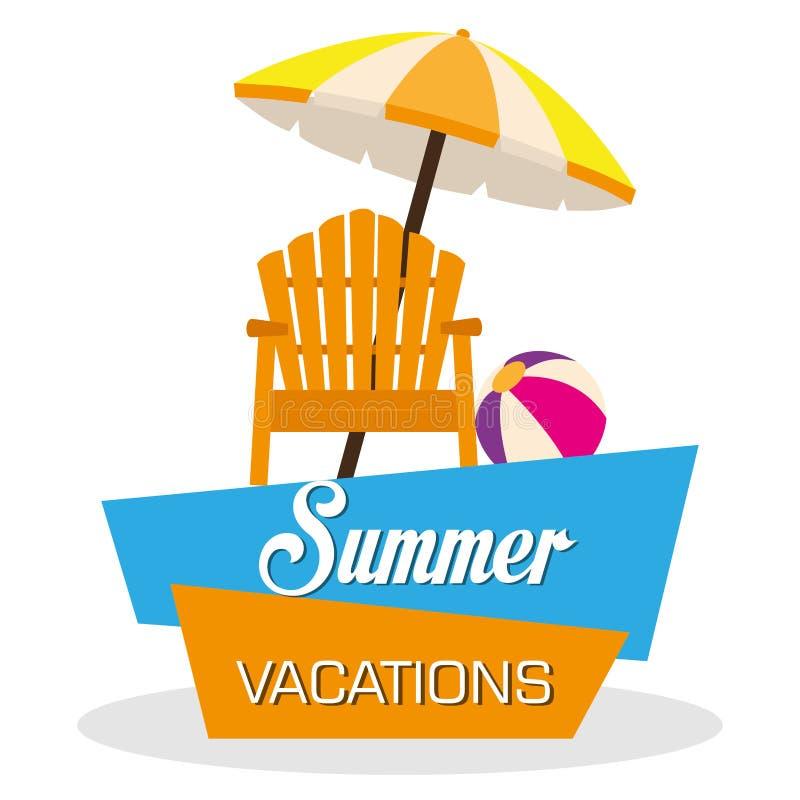 Vacanze di estate illustrazione di stock