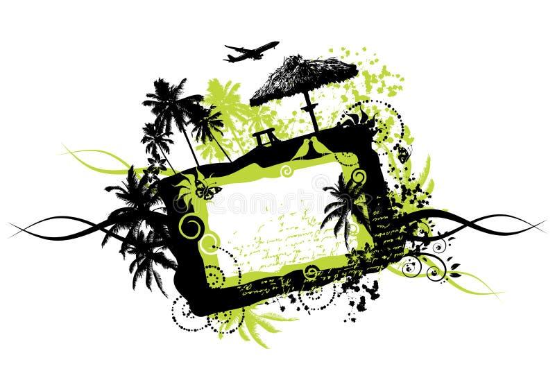 Vacanze di estate, grunge del blocco per grafici royalty illustrazione gratis