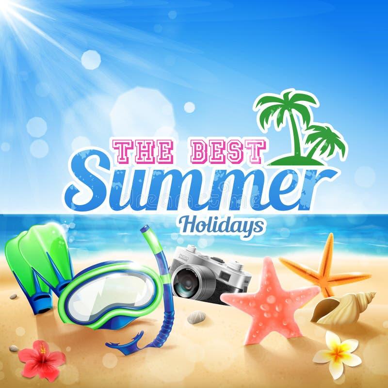 Vacanze estive illustrazione vettoriale