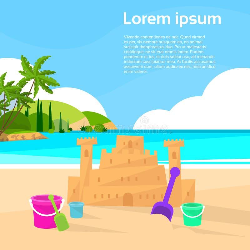 Download Vacanze Estive Della Spiaggia Dell'oceano Del Castello Della Sabbia Piane Illustrazione Vettoriale - Illustrazione di infanzia, hawai: 56879035