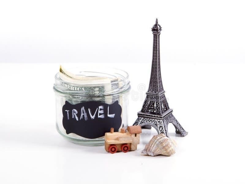 Vacanze estive di pianificazione, concetto di viaggio del bilancio dei soldi immagini stock