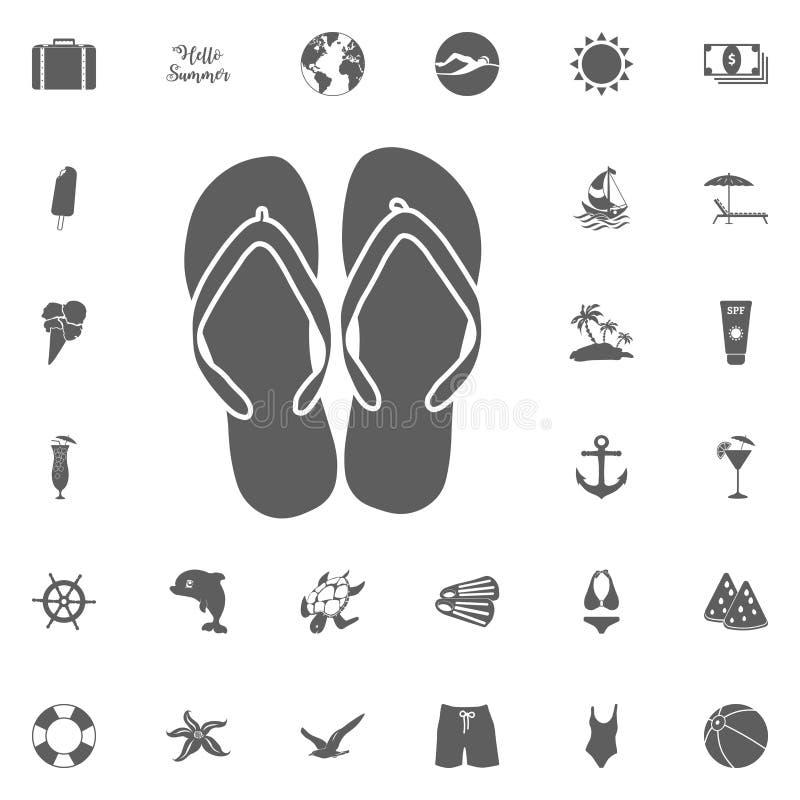 Vacanze estive sopra l'illustrazione grigia di vettore del fondo illustrazione di stock