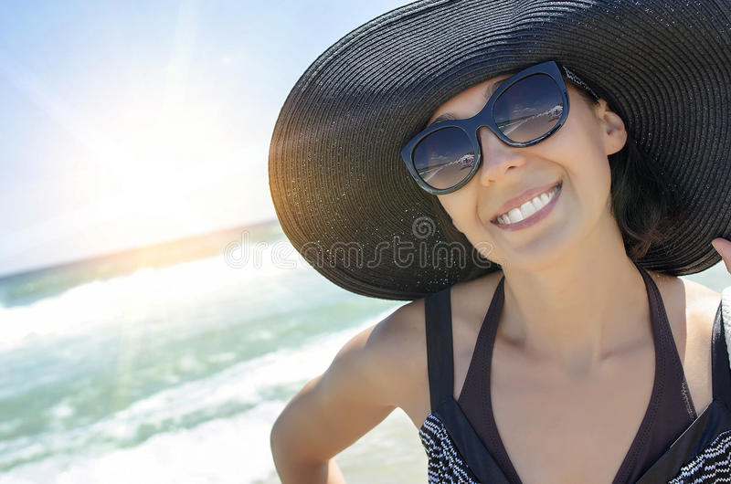 Vacanze estive sulla spiaggia fotografie stock libere da diritti