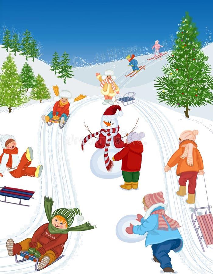 Vacanze invernali royalty illustrazione gratis