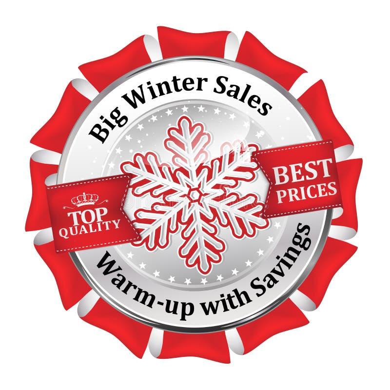 Vacanze invernali di vendite che annunciano icona illustrazione vettoriale