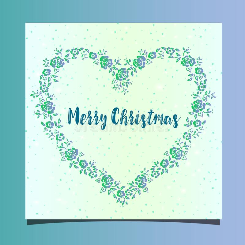 Vacanze invernali felici - Buon Natale - cartolina d'auguri piana royalty illustrazione gratis