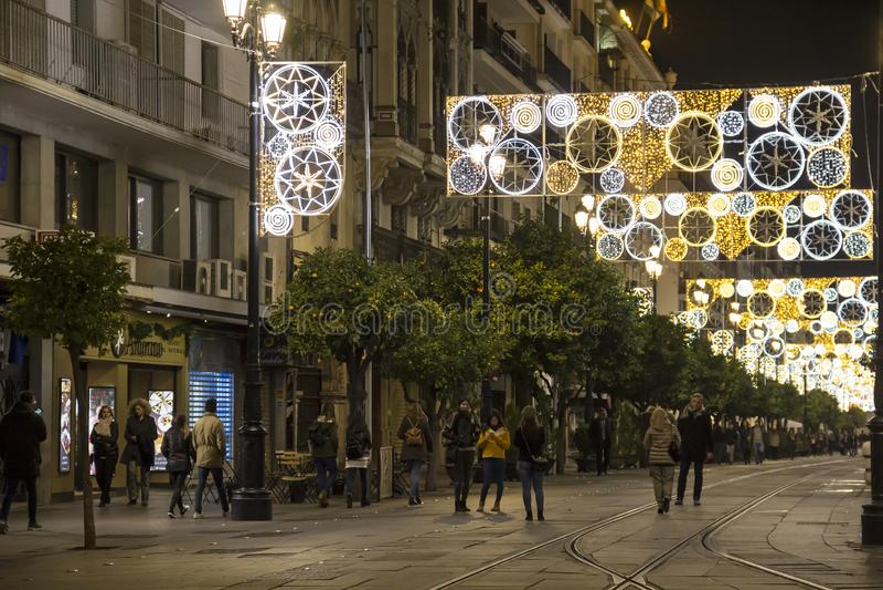 Vacanze invernali in Siviglia, Spagna fotografia stock libera da diritti