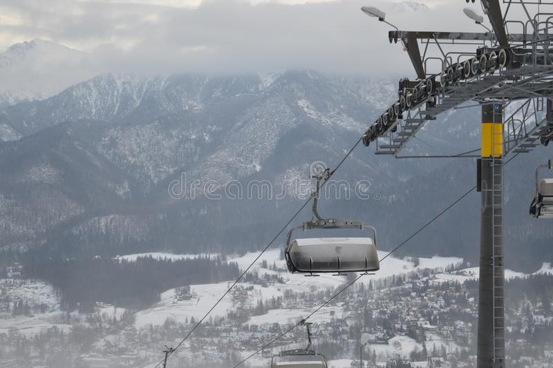 Vacanze invernali in Zakopane fotografia stock