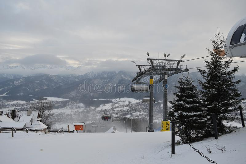 Vacanze invernali in Zakopane fotografia stock libera da diritti