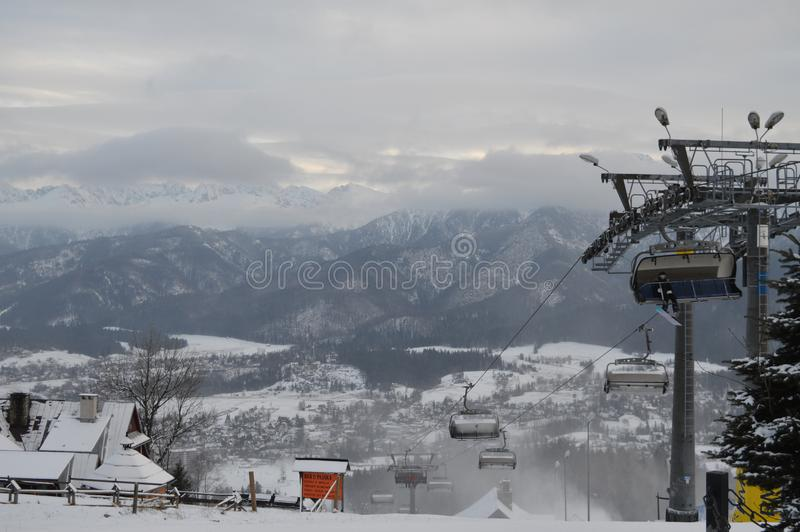 Vacanze invernali in Zakopane immagini stock
