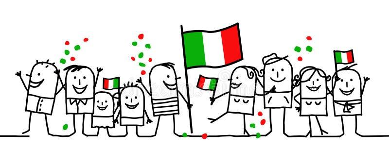 Vacanze nazionali - Italia royalty illustrazione gratis