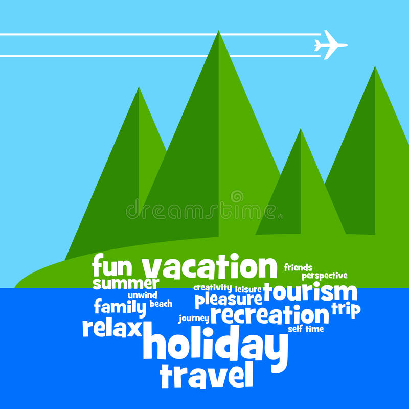 Download Vacation stock illustration. Image of airplane, blue - 27741649