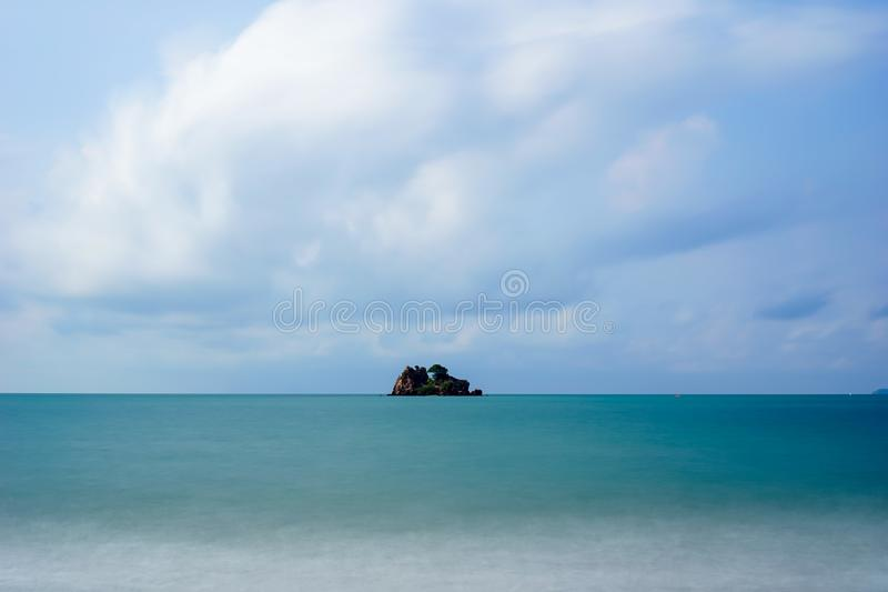 Vacation as island sky. Out door. Nature summer beautiful water blue sea and beach. royalty free stock image