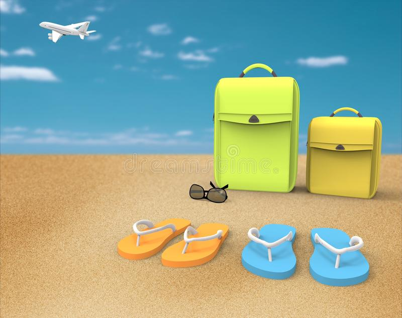 Download Vacation at the beach stock illustration. Illustration of relaxation - 25261497