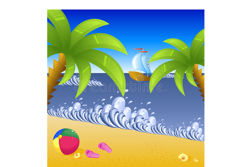 Vacation At The Beach Royalty Free Stock Images