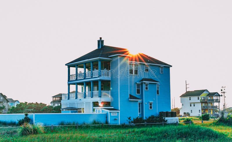 Vacation Beach House in the Outer Banks North Carolina stock photography