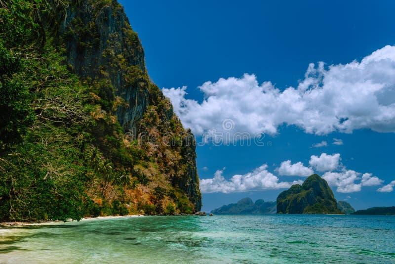 Vacation on beautiful tropical island, relax chill getaway enjoy summer in El Nido, Palawan island, Philippines.  royalty free stock photos
