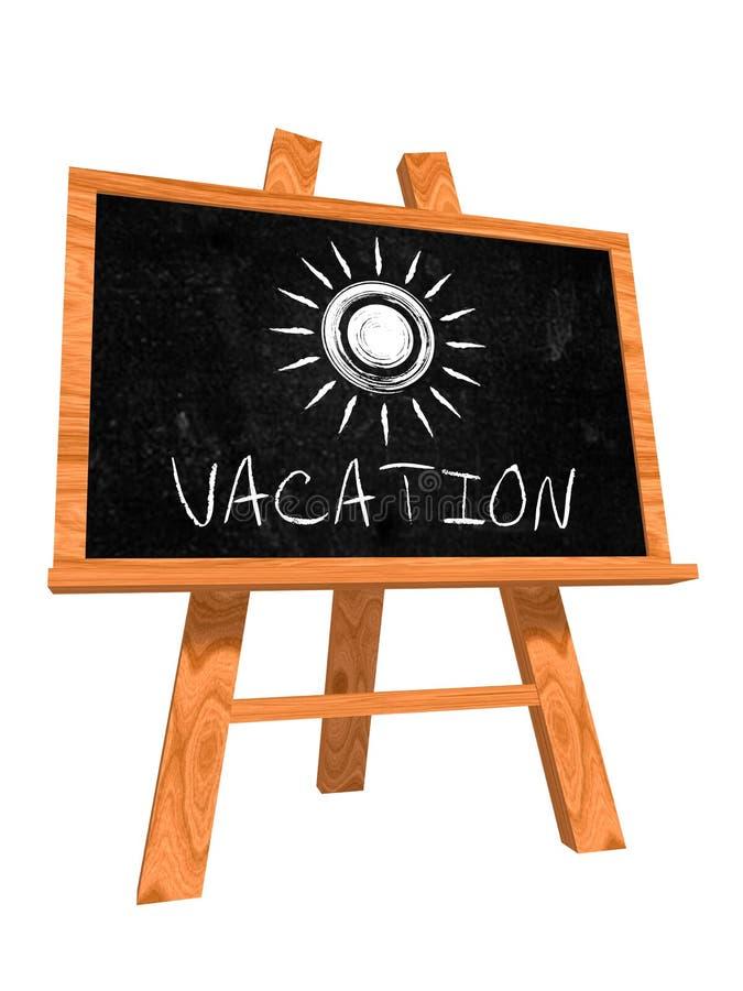 Vacation On Blackboard Royalty Free Stock Photo