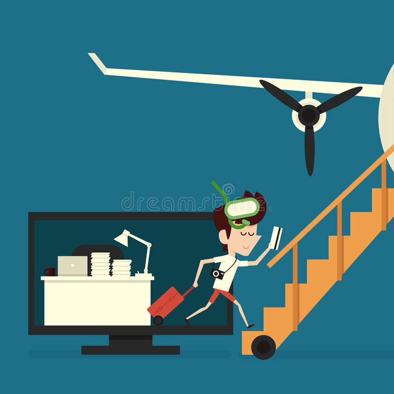 Download Vacation stock vector. Image of leave, baggage, office - 41422692