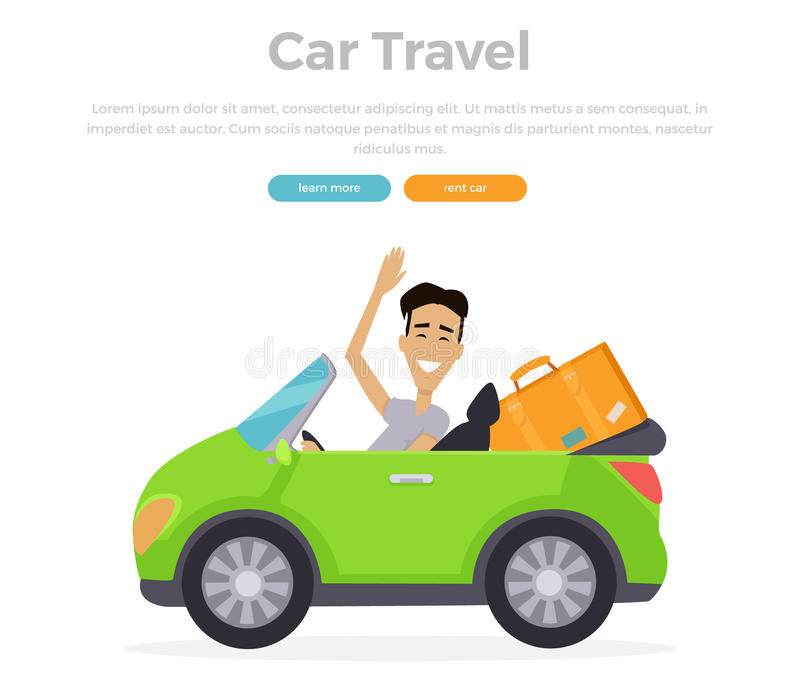 Vacation Car Travelling royalty free illustration